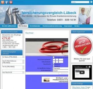 Krankenversicherungsspezialist Ralf Becker aus Lübeck bietet auch die Möglichkeit online zu vergleichen.