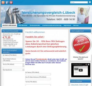 Versicherungsmakler Ralf Becker bietet Kunden in Lübeck seinen Service auch online an.