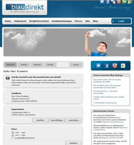 Optimal integriert in Ihre Homepage als Versicherungsmakler unterstützt der digitale Kundenordner Ihre professionelle Wirkung beim Kunden.