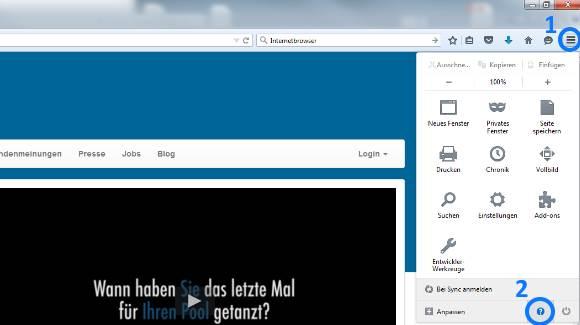 Update mit Firefox