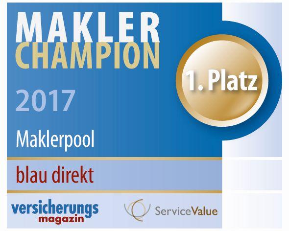Maklerchampion 2017 blau direkt