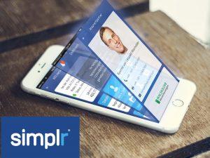 Darstellung Kunden-App simplr