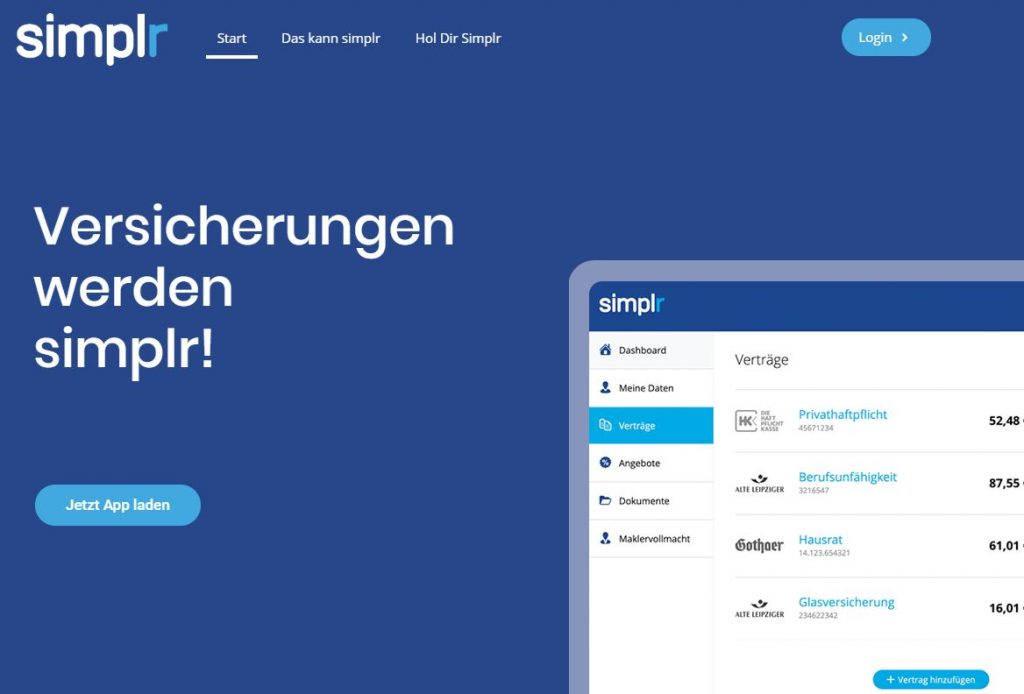 Neues Layout der simplr-Website